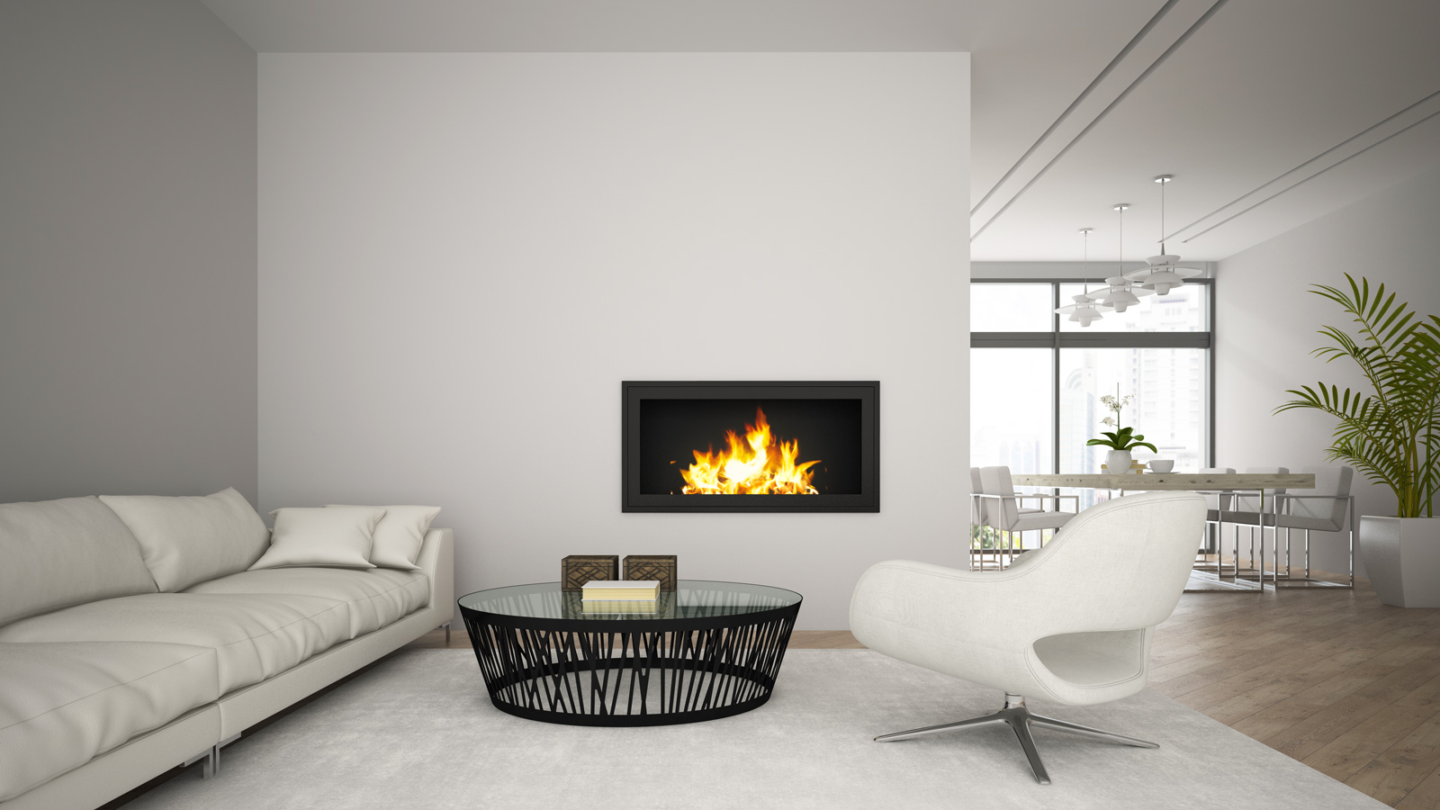 interior-of-modern-loft-with-fireplace-and-white